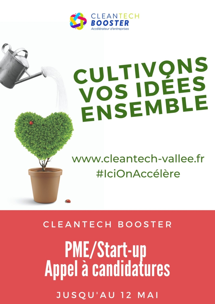 Appel à candidatures - CleanTech Booster Saison 2