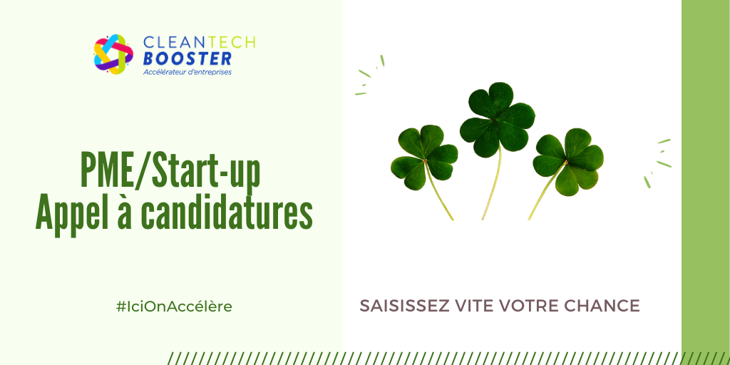 Candidature CleanTech Booster Saison 2