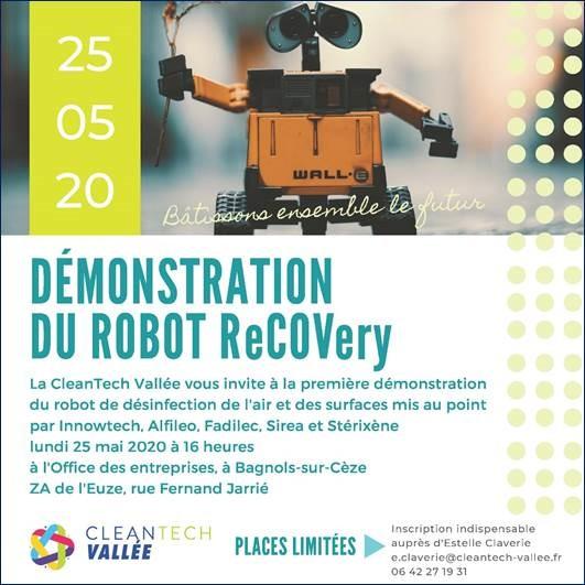 Démonstration du robot ReCOVery