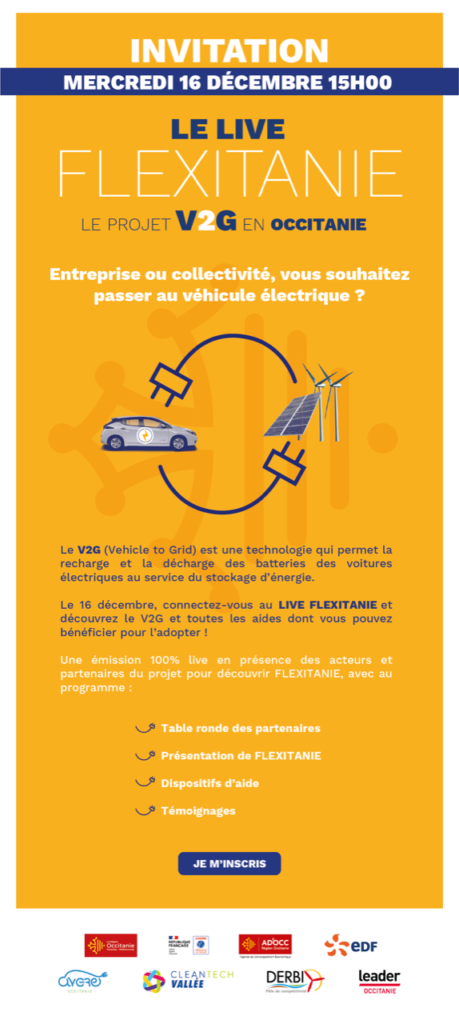 LE LIVE FLEXITANIE - Vehicle-to-grid
