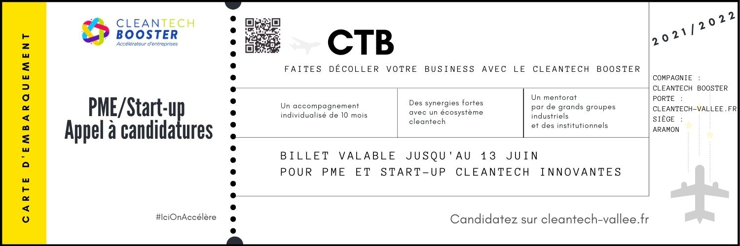 cleantech vallée cleantech booster candidatures