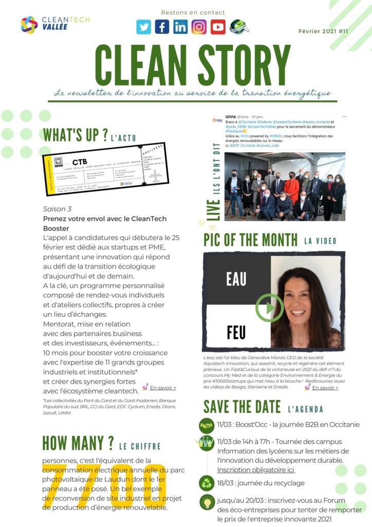 newsletter cleantech vallée cleantech booster