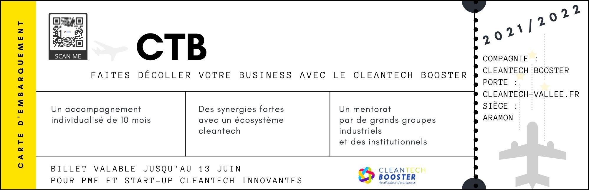Candidatez au CleanTech Booster et faites décoller votre business ! ✈️