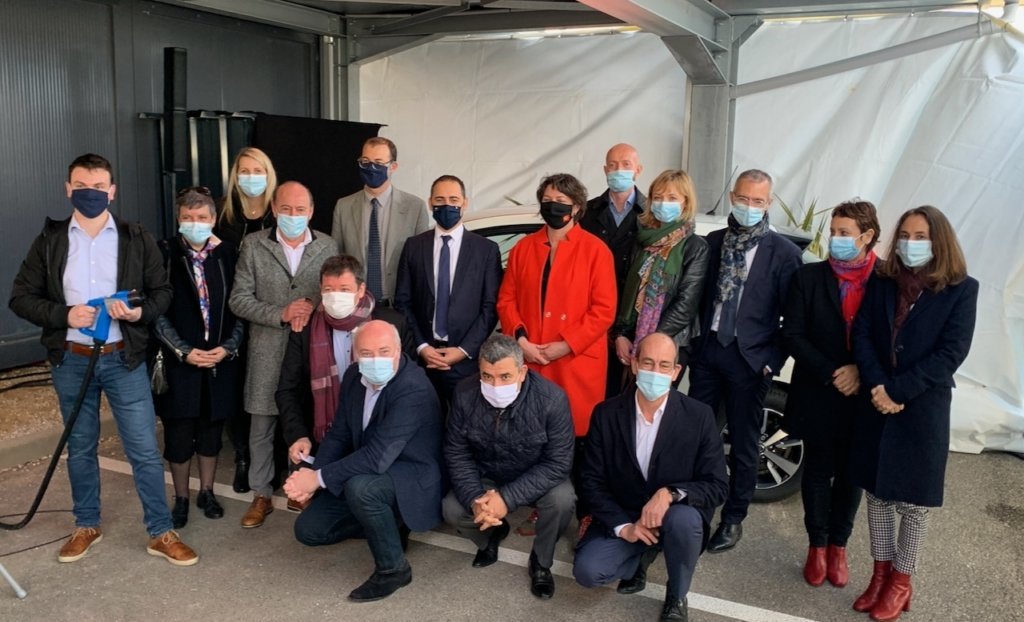 Flexitanie : inauguration de la 1ère borne VtoG pour voiture électrique